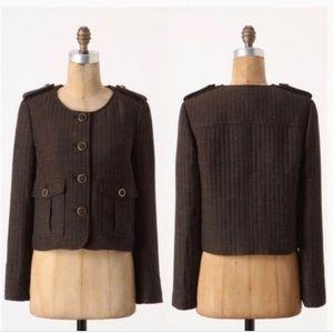 ANTHROPOLOGIE CARTONNIER BRIGADE Jacket Tweed